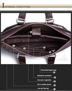Image 3 - 本革のブリーフケース、ラップトップのレザーバッグ、 15 インチのノートブックコンピュータ、 15.6 インチのラップトップバッグ