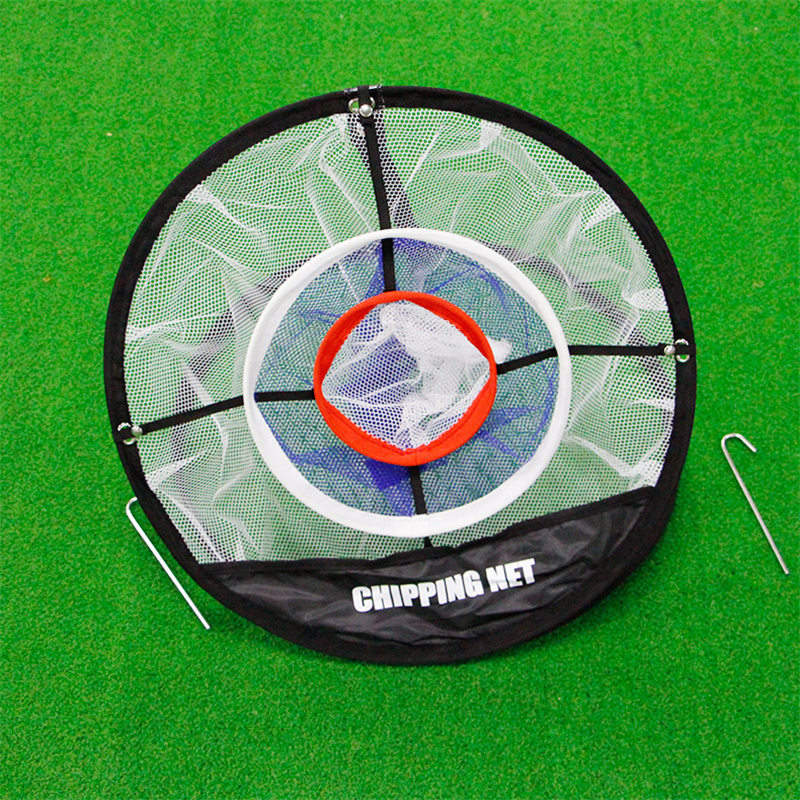1pcs Golf Pop UP Mats Practice Easy Net Golf Training Aids Metal + Net Indoor Outdoor Chipping Pitching Cages PGM Brand New