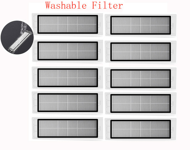 New improved version washable hepa filter for Xiaomi Mi Robot Roborock S50 S51 parts(China)