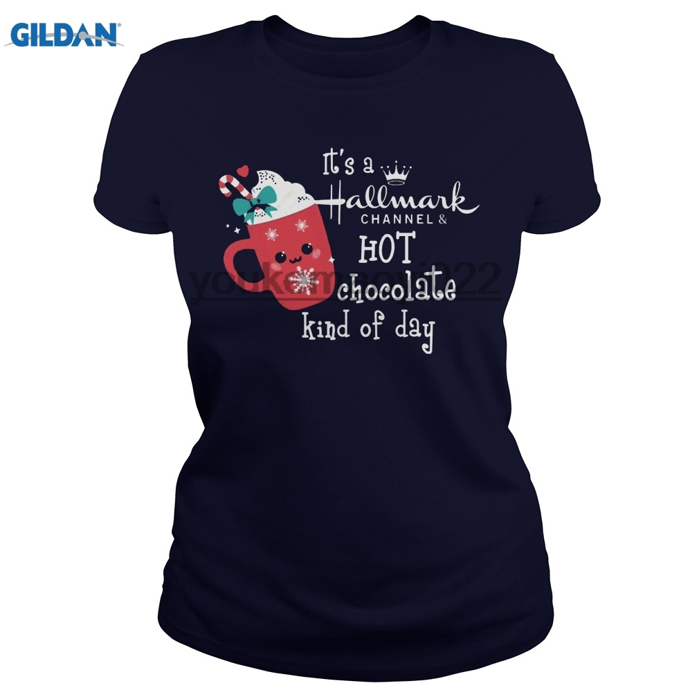 GILDAN It's a Hallmark channel hot chocolate kind of day shirthoodietank top