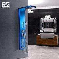FLG ванная душевая панель s нержавеющая сталь сапфировый дождь водопад душевая панель массажная система душевая колонка с струями