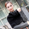 hot sale 2016 real mink fur scarf knitted scarves winter neck wrap women warmer fashion shawl free shipping