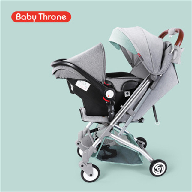 4 In 1 Portable Baby Stroller Infant Car Seat Safety Chair Basket Cradle Carriage Pram