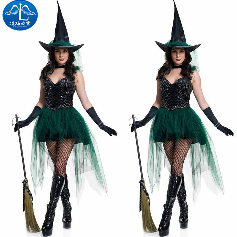 ManLuYunXiao Cosplay Costume Witch Cosplay Costume Witch Adult Sorceress Sexy Dress Halloween Party Masquerade Christmas Costume