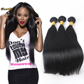 7A Hot Peruvian Virgin Hair Straight 3 Bundles Straight Peruvian Hair 100g/pc Human Hair Extensions 100% Unprocessed Virgin Hair