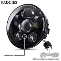 FADUIES Chrome 5.75 inch LED Headlamp 5 3/4 inch LED headlamp For Harley Iron 883 Dyna Street Bob FXDB Sportsters