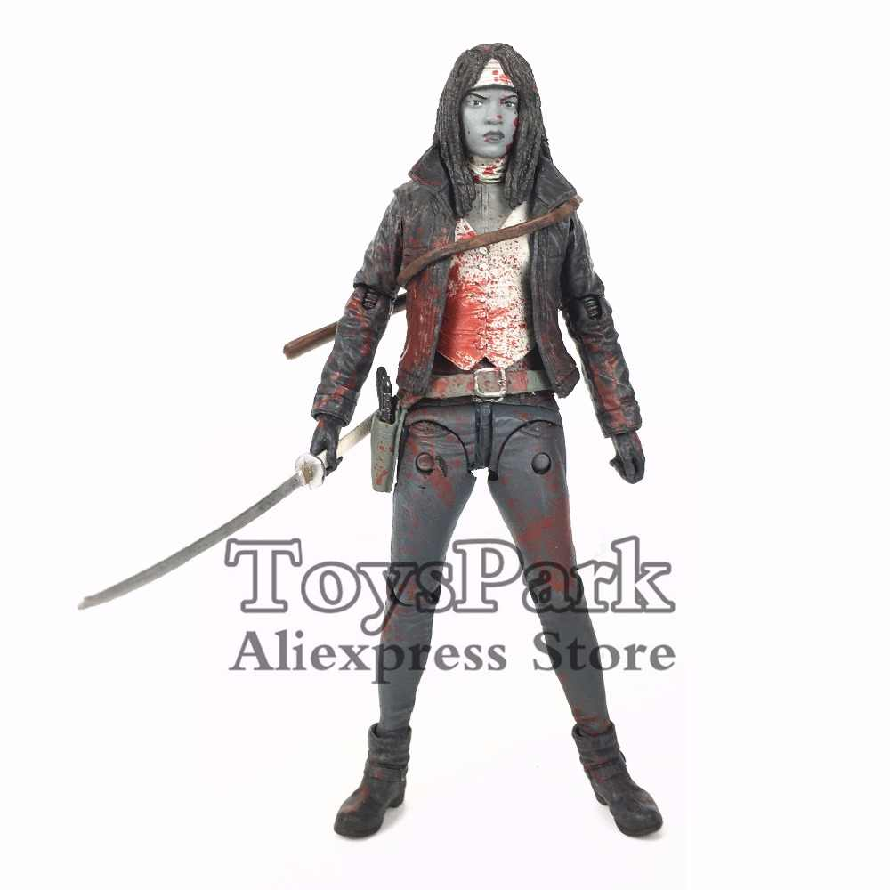 "The Walking Dead 5 ""Michael onne negro blanco Bloody Comic figura de acción Original mcfarcarril SDCC Skybound exclusivo coleccionable Suelto"