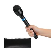 BOYA BY-HM100 Omni-Directionnel Sans Fil De Poche Dynamique Microphone XLR Longue Poignée pour ENG & Interviews et Nouvelles Collecte Rapport