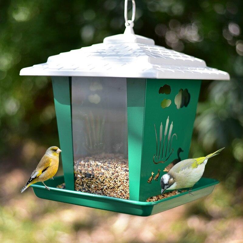 Fournitures d'alimentation pour oiseaux balcon extérieur perroquet starling muguet mangeoire pour oiseaux automatique ZP12191502