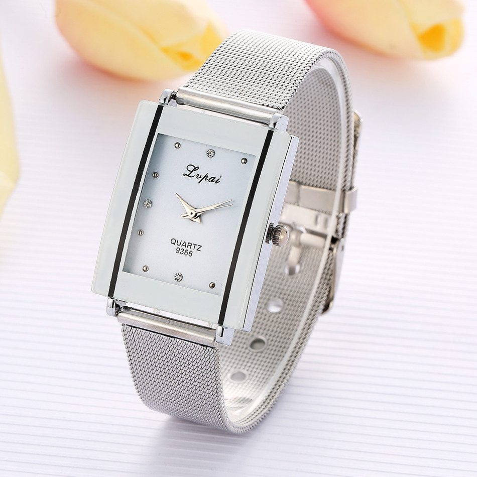 Fashion Rectangle Silver Bracelet Watch Women Watches Luxury Crystal Ladies Watch Women's Watches For Women Clock reloj mujer stylish rhinestoned rectangle triangle bracelet for women