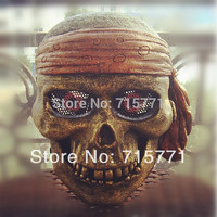 FRP Klasyczne Królem Piratów Maska CS Maska rzemiosła Nowa maska czaszka duch czaszka maska wojskowy Pasek Dekoracji