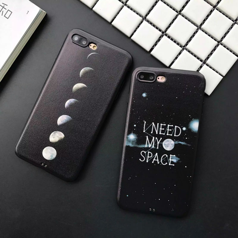 LOVECOM Fashion Lunar Eclipse And Pluto Phone Case For Iphone 6 6S 7 8 Plus Soft Silk Phone Back Cover Capa Coque ...