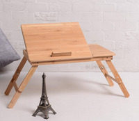 Laptop Stand MultiFunctional Folding Laptop Table Bamboo Desk Bed Sofa Tray Adjustable Portable 14inch 15inch Notebook