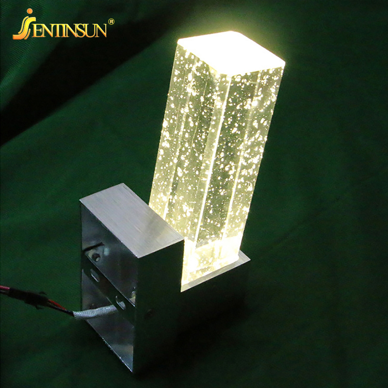Modern Crystal Bubble LED Wall Lamp Iron Mounted Mirror Bathroom ...