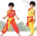 Trajes das crianças performances de artes marciais uniformes academia Privada totem dragão tai chi terno crianças trajes de dança