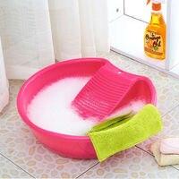 Plastic washtub laundry tub belt sudsy washboard basin Large basin syncronisation three color