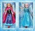 Moda 30 cm Princesa Anna Elsa Anna Olaf Bonecas Do Bebé Bonito elsa ação fingure pvc boneca meninas toys elsa boneca de brinquedo do bebê