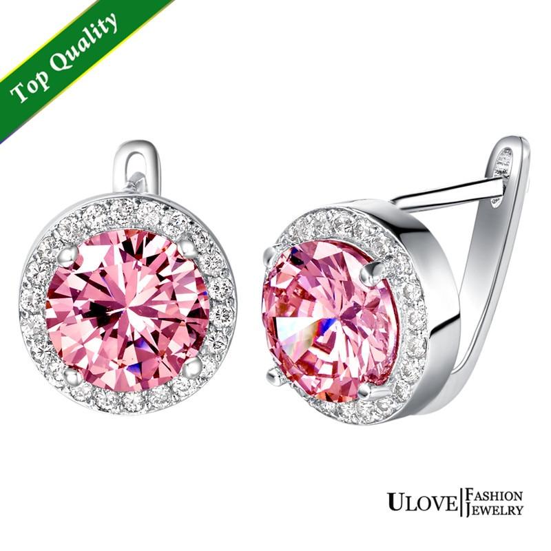 Pink Diamond Stud Earrings Sale