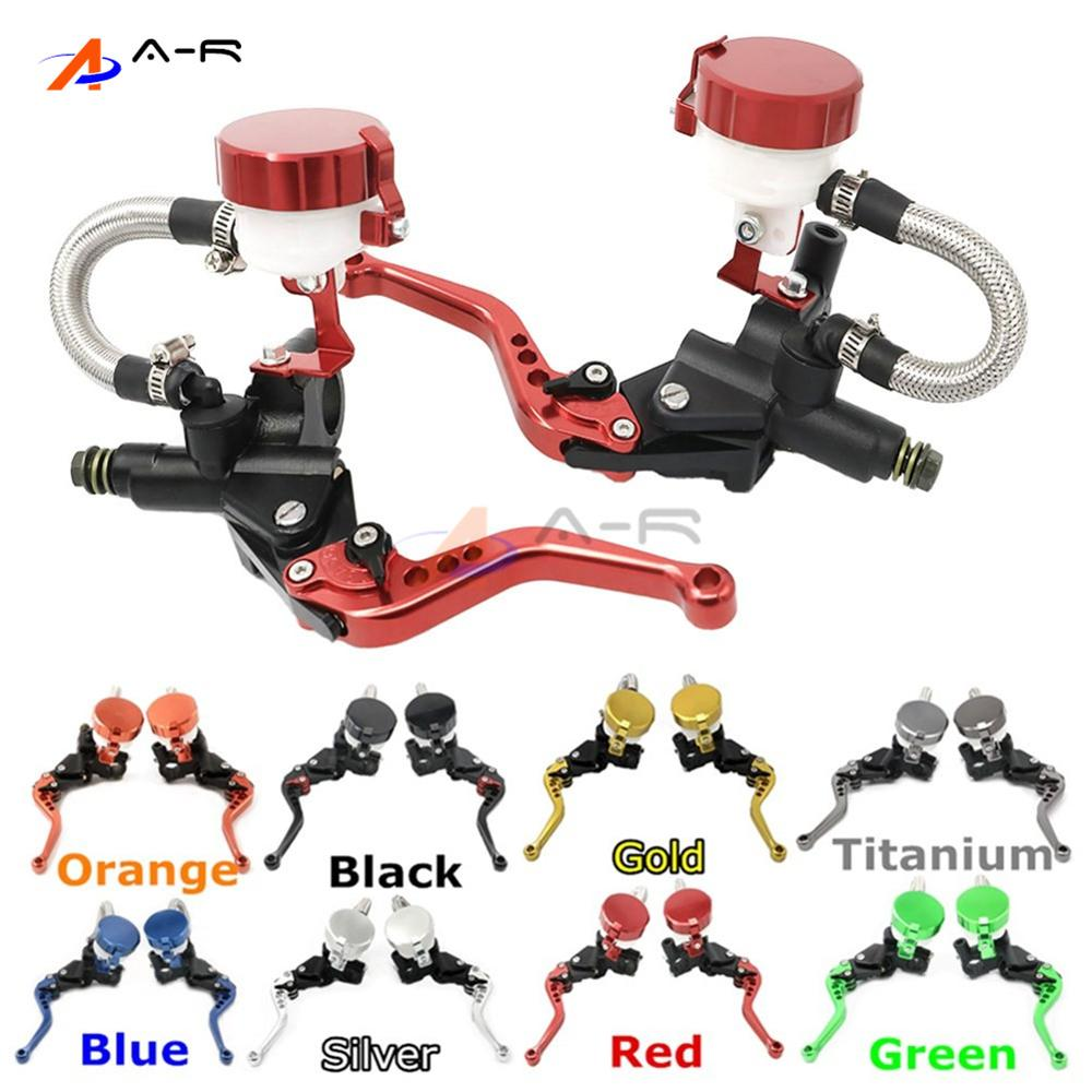 Adjustable CNC 22MM 7/8'' Clutch Brake Levers Master Cylinder Reservoir for Honda CB1000R 2008-2012 2009 2010 2011