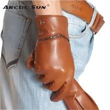 Business Men Genuine Leather Gloves High Quality Goatskin Glove Autumn Winter Plus Velvet Thermal Driving Gloves EM010NCF