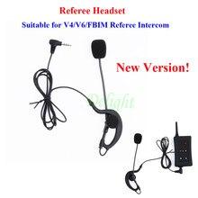 Vnetphone futebol árbitro interfone microfone fone de ouvido e treinador árbitro fones para v6/v4/fbim árbitro intercom