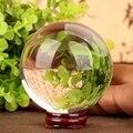 40mm Feng shui Bola de Cristal ámbar Rare Claro piedras naturales y minerales productos figuras Regalos bola de cristales de cuarzo en bruto