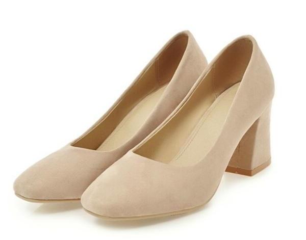Zapatos Elegant Schuhe Femme Damen Frühjahr Klobigen white black pink Frauen Frau Hochzeit C161618 Heels Nizza Mujer Apricot Mode High Pu Pumpt Chaussure rqOIPEwrx