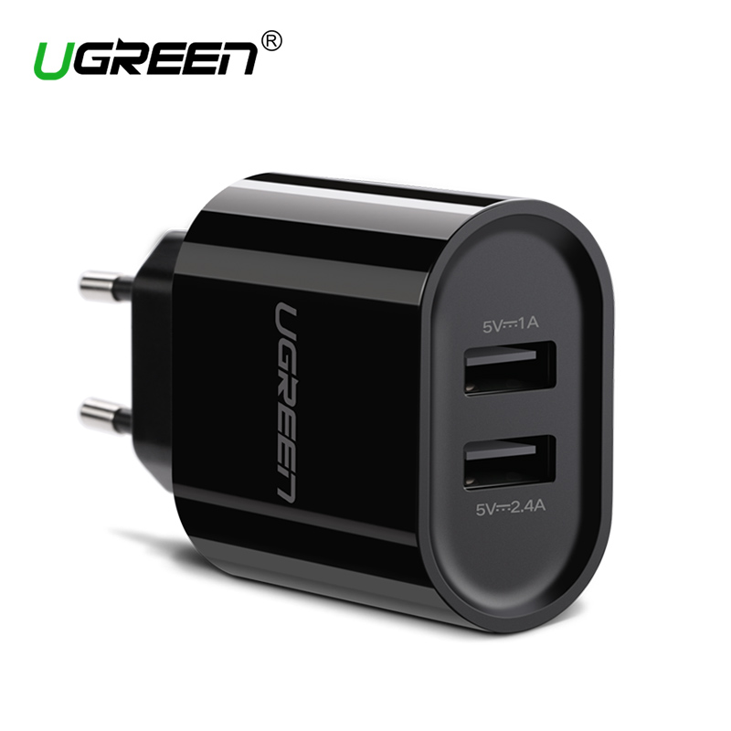 Ugreen 17W Dual Port Travel Wall EU Plug USB Charger For IPhone 4S 5 5S 6