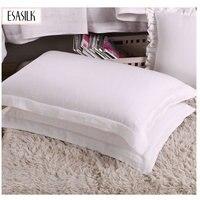 4cm Border Envelope 100 French Linen Pillowcase Soft Pillow Cover Free Shipping 1Pc ESASILK