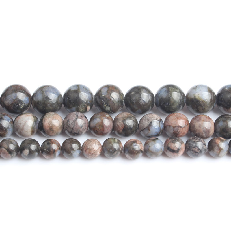 LanLi natural Jewelry 6 8 10mm The blue color stone Loose beads DIY Male and female bracelet Necklace Accessories in Beads from Jewelry Accessories