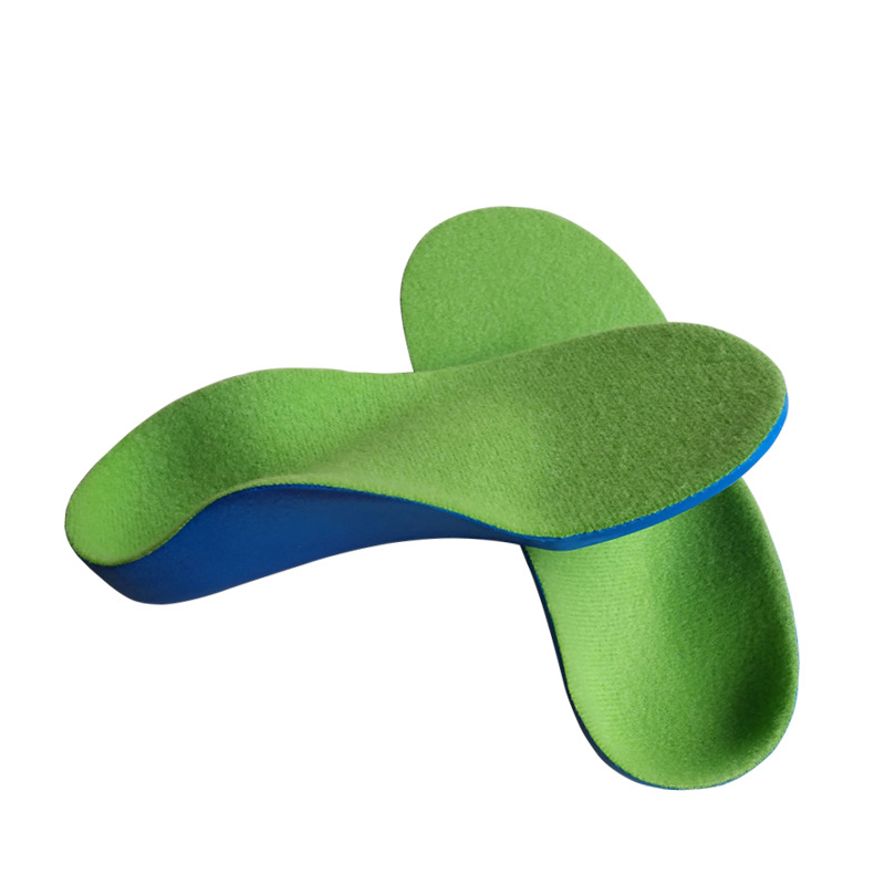 2018 New Hot flatfoot arch support orthopedic sole feet care one pair PU foam kids orthotic insole for children baby shoes kids children pu orthopedic insoles for children insole shoes flat foot arch support orthotic pads correction health feet care
