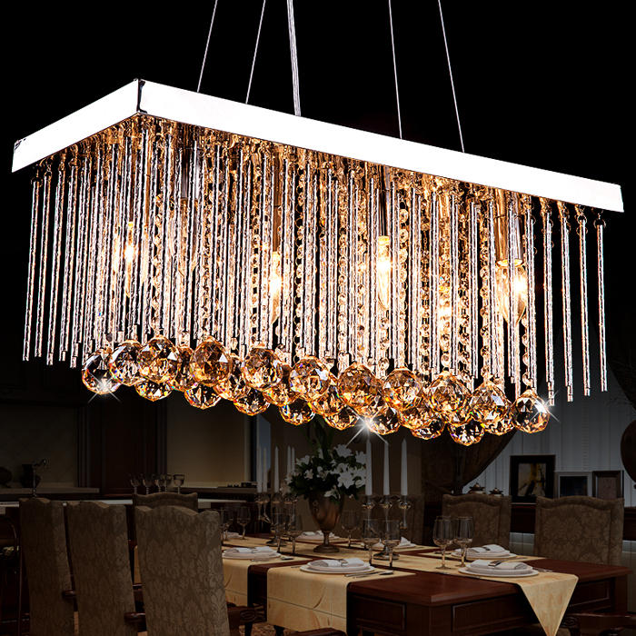 Buy modern led crystal chandeliers for Lustre moderne design contemporain
