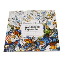 Graffiti Gifts Books Wonderland Exploration Coloring Book English Young Adult Black and white background