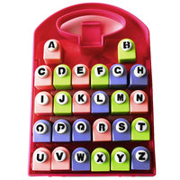Free Ship Scrap 26 Letters Punches Set Best Gift Paper Punch Sets Children DIY Toy Shaper