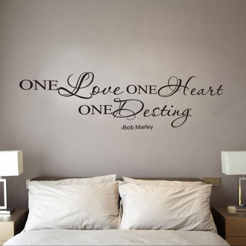 JY 4 Personality 2017 Hot Selling One Love Quote Removable Decal Room Wall Sticker Vinyl Art Home Decor 420