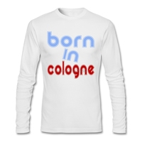 Male BORN IN COLOGNE Long Sleeve Tee Shirts Designing Cotton T Shirt Designer Man New Spring