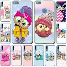 Leuke Uil Hard Phone Case Voor Huawei Honor Play 10 8C 8X 8 9 Lite 7C 7X 6A 7A 6C view 20 9X Pro(China)