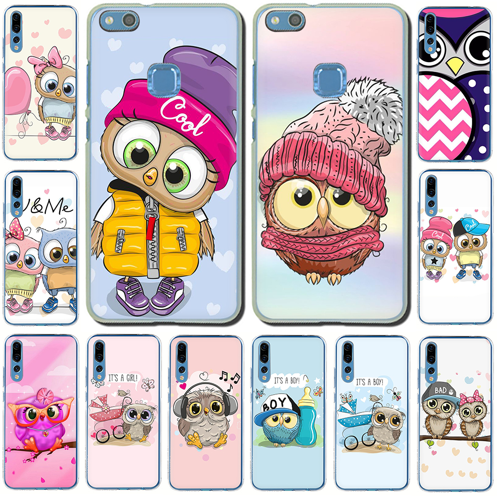 Cute Owl <font><b>Hard</b></font> Phone <font><b>Case</b></font> for Huawei <font><b>Honor</b></font> play 10 8C 8X 8 <font><b>9</b></font> <font><b>Lite</b></font> 7C 7X 6A 7A 6C view 20 9X Pro image
