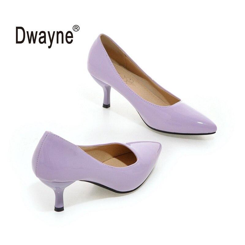 Große Größe frauen Schuh 6 cm High Heels Pumpen AM270 Party Schuhe Für Frauen PU Hochzeit Schuhe A05-1
