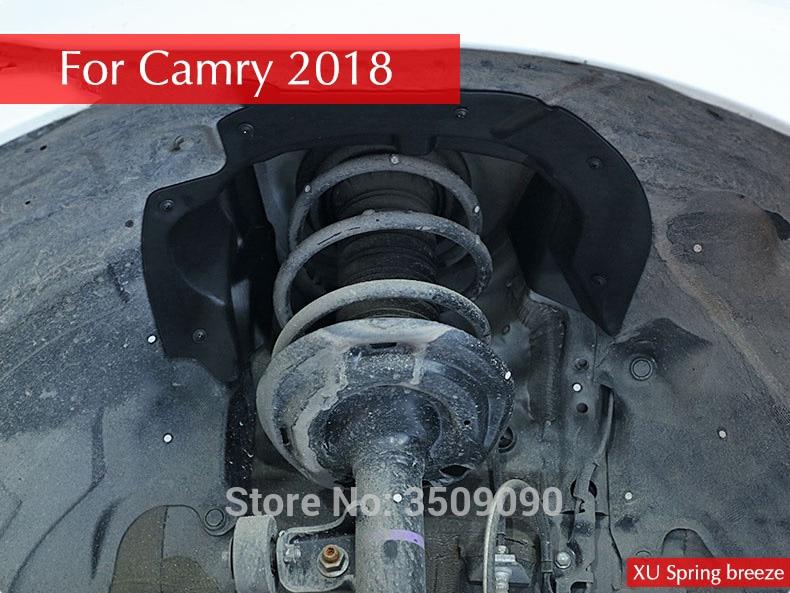 цена на Car Exterior Front Mud Wheel Inner Fender Protection Sticker 2Pcs/Set For Toyota Camry 2017 2018