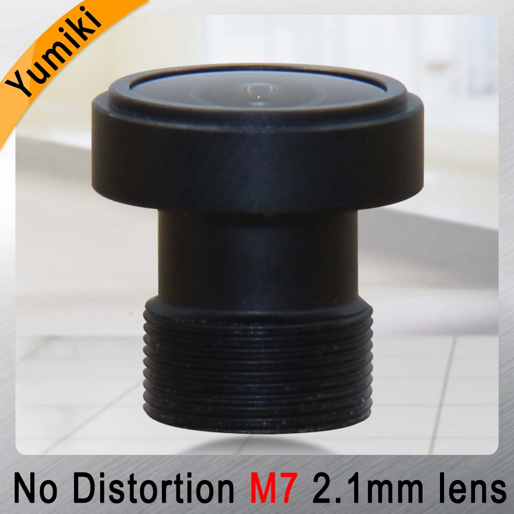 Yumiki 2.1mm M7 Lens 1/4 Inch 5MP IR F1/2.7 No Distortion Lens For Cctv Camera Wide Angle 170degree