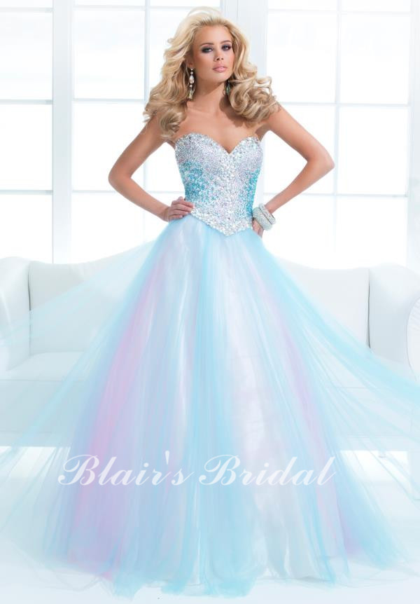 Stunning 2014 New Arrival Sweetheart Crystal Ball Gown Light Blue ...