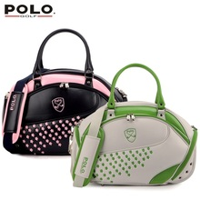 Brand POLO Authentic Golf Clothing Bag Women Import PU Embroidered Waterproof Bag Handbag 2017 New High Quality Travel Bag