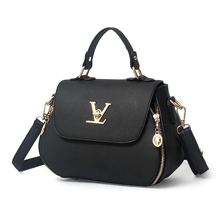 Bolso de la manera bolso femenino portable simple V diseño pequeño paquete de La