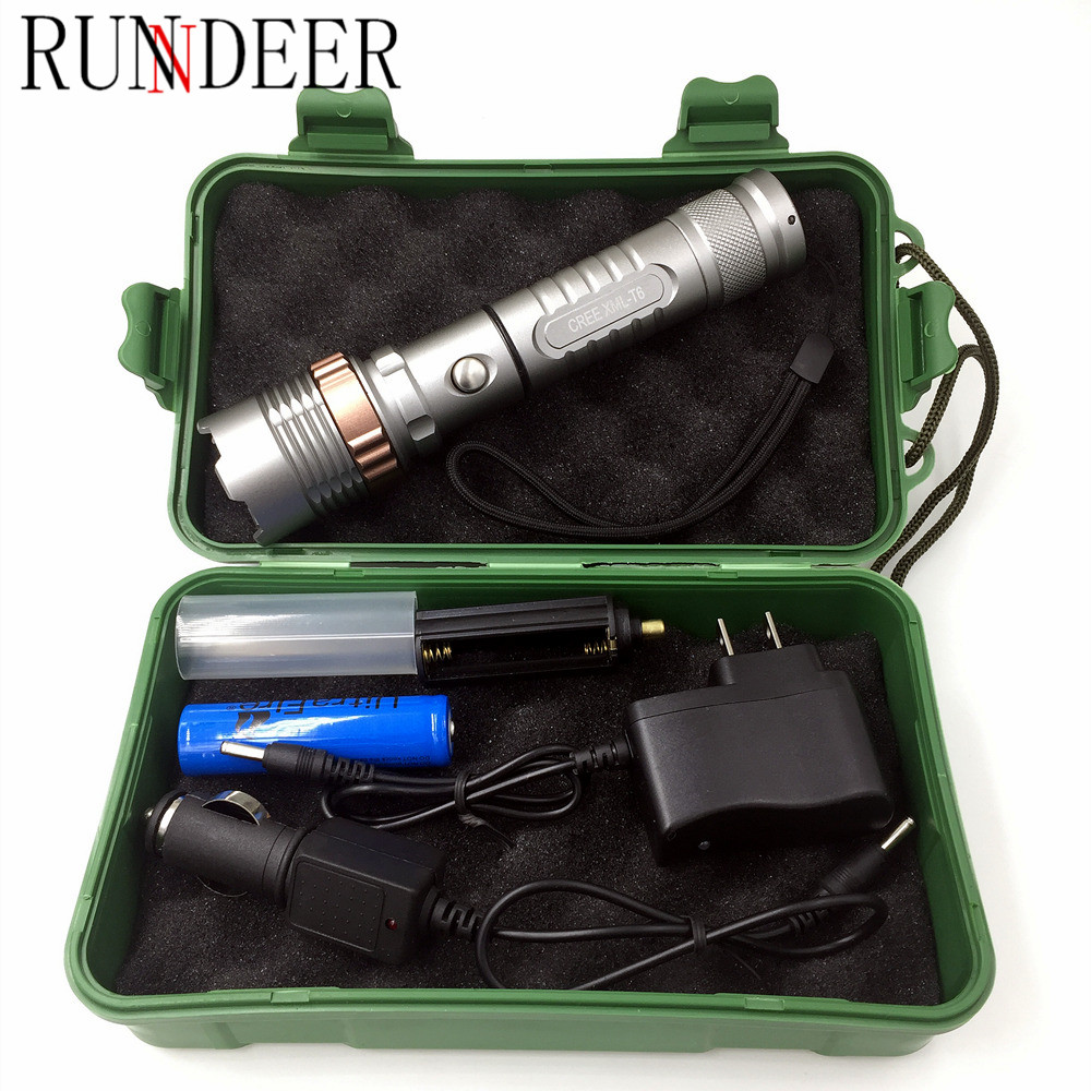 Powerful LED Flashlight CREE XML T6 Lantern Rechargeable Torch Zoomable Waterproof AAA or 18650 Battery Lamp Hand Light a101 1600lm xml t6 5 mode ultra bright powerful flashlight led flashlight zoomable lantern 2x18650 batteries and changer
