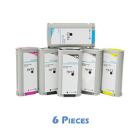 6pcs Volledige XiongCai Compatibele Inkt Cartridges Voor HP 72 Designjet T610 T770 T795 T1100 T1120 T1200 T1300 T2300 printers voor HP72