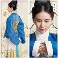Azul tapa de la falda blanca mujer Hanfu traje para TV jugar Imperial Doctress el mismo diseño que actriz Liu Shishi