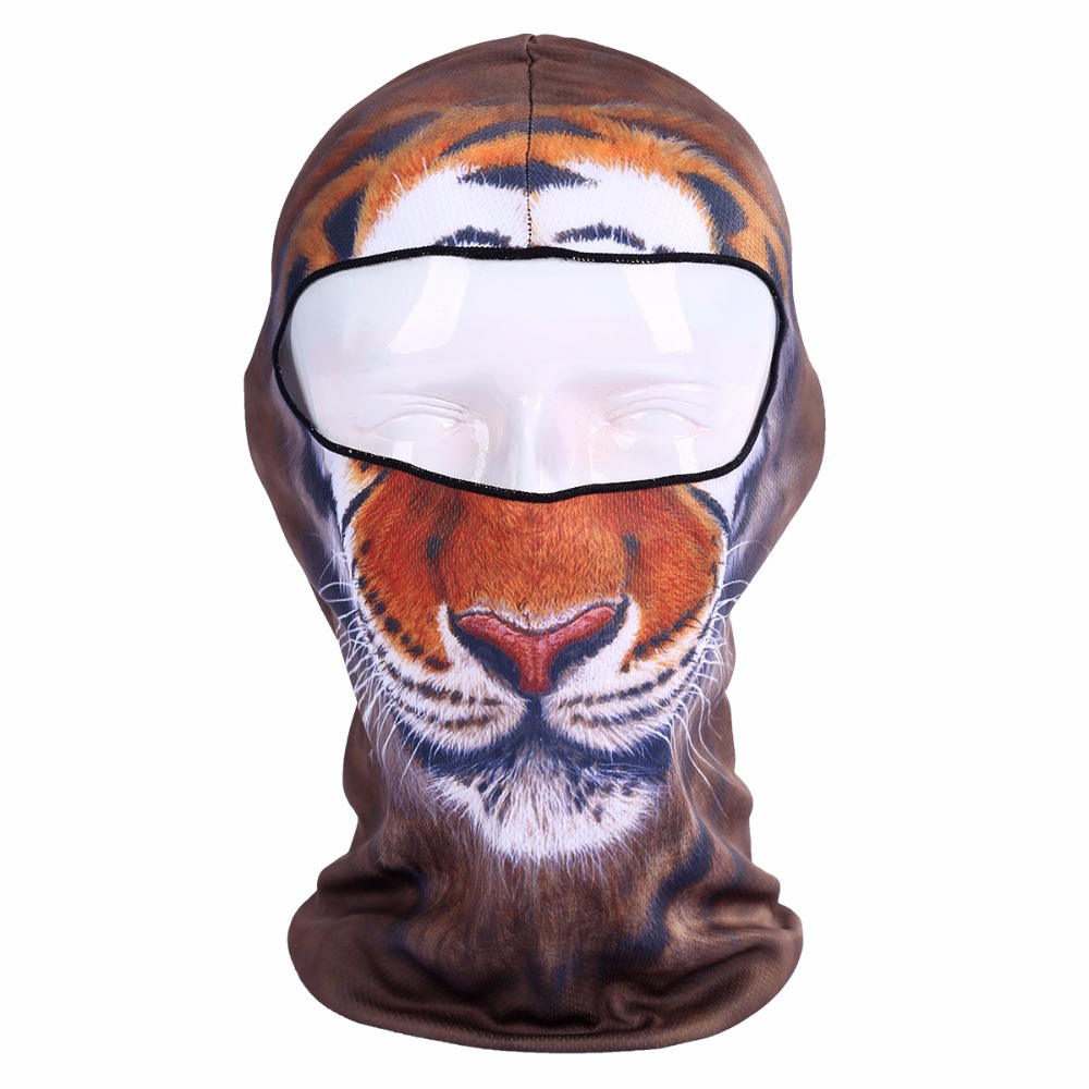 Temperate Winter 3d Animal Full Face Masks Fashion Outdoor Bicycle Mask Ski Cap Veil Winter Balaclava Mask Uv Mask Hat Drop Shipping Men's Scarves