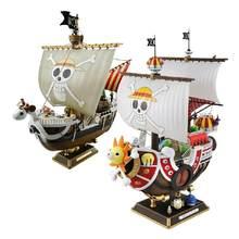 Anime uma peça mil sunny & meryl barco pirata navio figura pvc figura de ação brinquedos collectible modelo brinquedo presentes