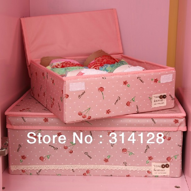 Non-woven fabric folding underwear/bra storage boxes,can be washed,7 cases